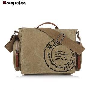 Men Handbag Cotton Canvas Bag Version of