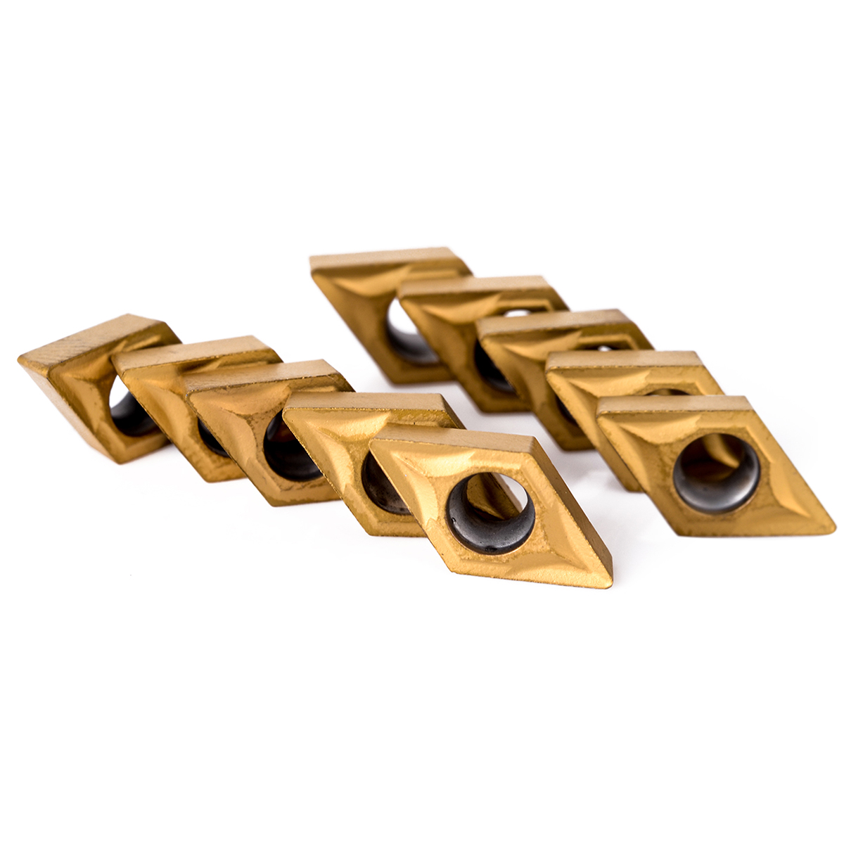 Купить с кэшбэком 10pcs DCMT070204 Carbide Inserts Blades + 4Pcs 12mm Straight Shank Boring Bar CNC Lathe  Turning Tool Holder + 4pcs Wrenches