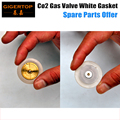 Gigertop 6pcs Co2 Jet Machine Solenoid Gas Valve Replacement Gasket Stage Effect Machine Spare Parts White Color Gasket