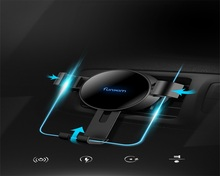 New fast wireless charger Vehicle mounted 360 degree fast wireless charger X7 outlet clamp for iphoneX 8 S8 general Qi standard