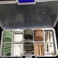 High Quality NEW 1 Set Dental Silicone Rubber Polishing Grinding Wheels Burs Coarse Fine Ultra Fine