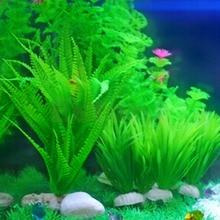 Newest Artificial Plastic Water Grass Fish Tank Aquarium Decor Green 15cm Height