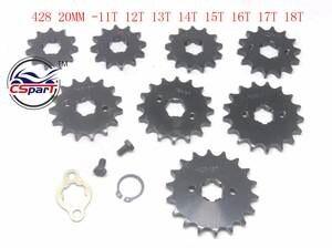 Pit Bike Frente Pi/ñ/ón 14 Diente 420 Paso 17mm Centro Agujero para Pozo Motos /& Quads