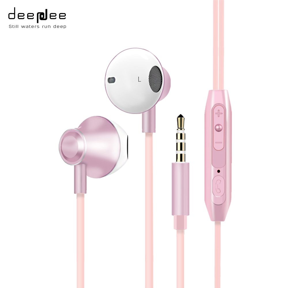 DEEPDEE Earphone Headset Super Heavy Bass Sport Music In-ear Wired For Xiaomi Mobilephone For Gaming HIFI Microphone Computer gutsyman hot selling earphone bass for mobilephone headset with microphone mic sport music earphone vs xiaomi m1 m2 m3 m4 m5 m6