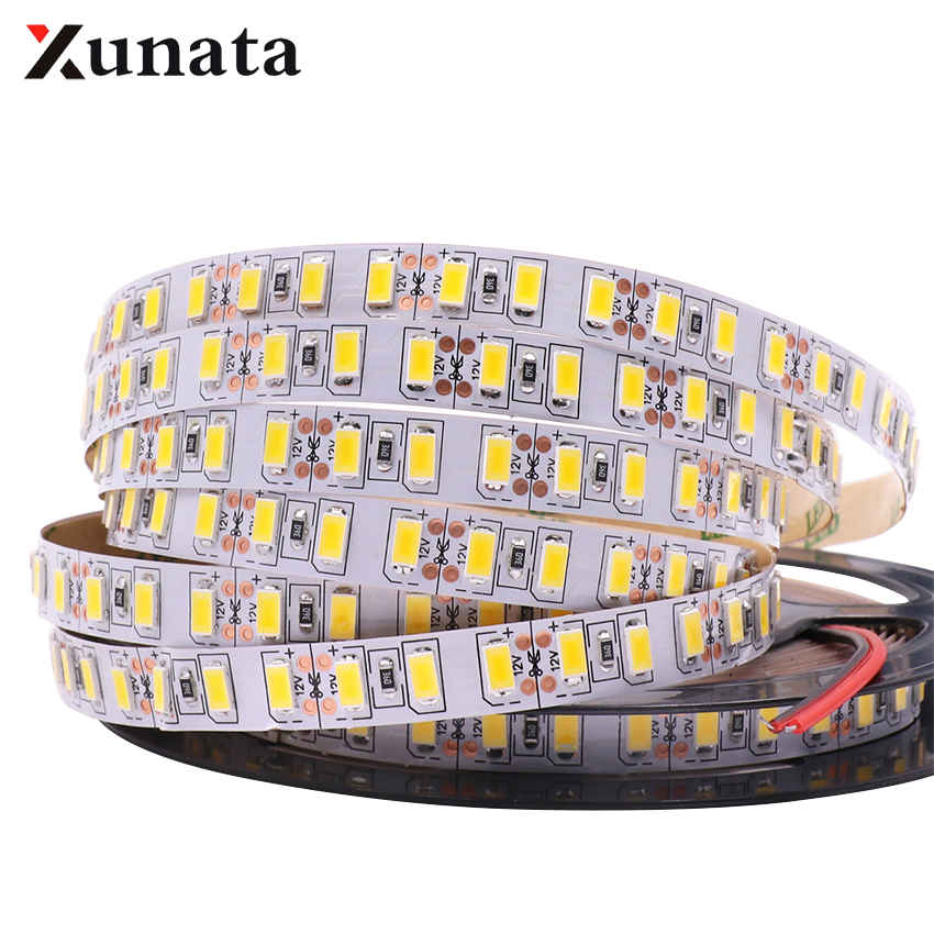 5m/lot DC 12V 120leds/m Super Bright SMD 5630 5730 Lights 5050 2835 5054 Waterproof Flexible Tape Ribbon Lamp Led Strip Light