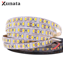 Tira de luces Led de cinta Flexible, 5 m/lote, cc 12V, 120leds/m, Super brillante, SMD 5630, 5730, 5050, 2835, 5054, impermeable