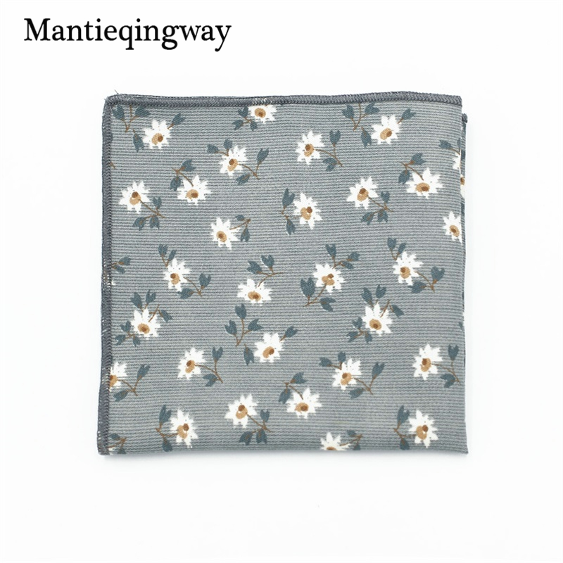 Mantieqingway Polyester Handkerchief Pocket Square For Men's Business Suit Floral Pocket Square Wedding Hankies Pocket Towel