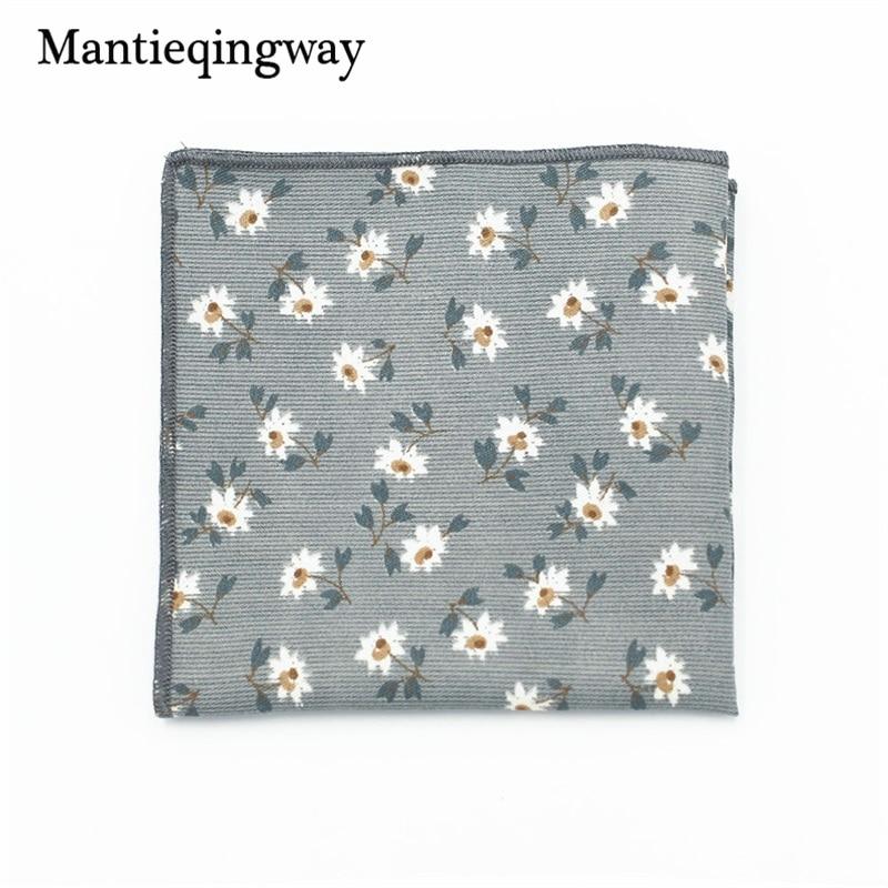 Mantieqingway Polyester Handkerchief Pocket Square For Men's Business Suit Floral Pocket Square Wedding Hankies Pocket Towel