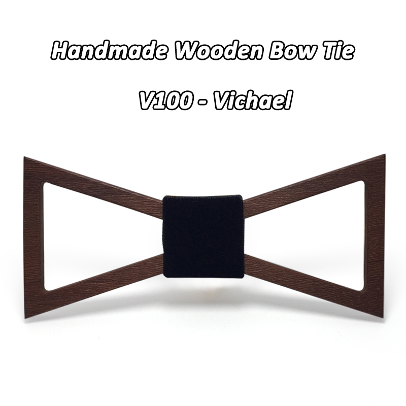 Mahoosive Brand Christmas Gift Fashion Handmade Wood Bow Ties Bowtie Butterfly Gravata Ties For Men Geometric Wooden Bow Tie