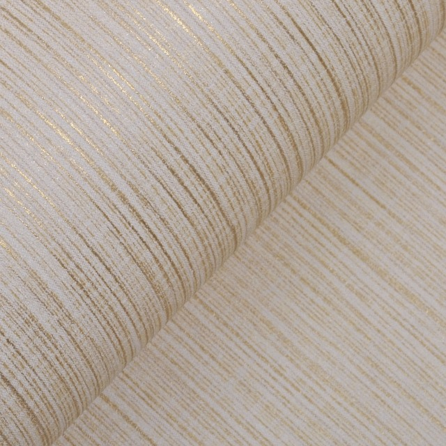 Plain Modern Silver Vertical Stripes Wallpaper Roll Interior Design Wall Paper Living Room Covering Beige Cream
