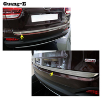 For Kia Sorento L 2015 2016 2017 stainless steel Rear back door License tailgate bumper frame plate trim lamp trunk 1pcs