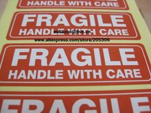 500pcs/lot 76x25mm FRAGILE HANDLE WITH CARE Self-adhesive Shipping Label Sticker,Item No.SS16