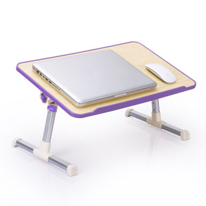 Image 2 - Simple Laptop Table Bed Desk Students Dormitory Reading Studying Desk Folding Lifting Computer Desk Small Table