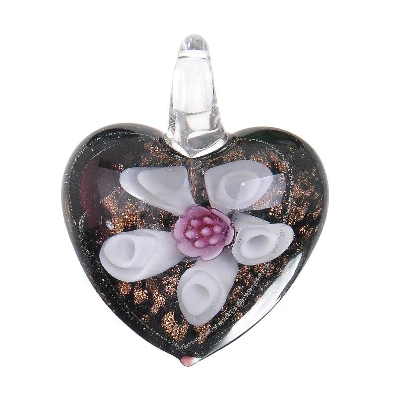 3af3e374a870 Al por mayor nuevo hecho a mano grande Murano corazón colgante collar para  mujeres regalo P867 en Collares pendientes de Joyería y accesorios en ...