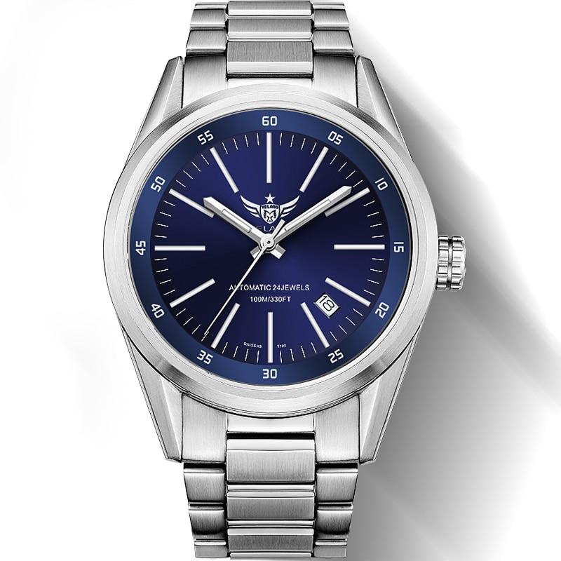 Yelang新しい到着V1017 100メートル防水スーパーロングt25トリチウムガス管発光男性自動機械式時計腕時計  グループ上の 腕時計 からの 機械式時計 の中 1
