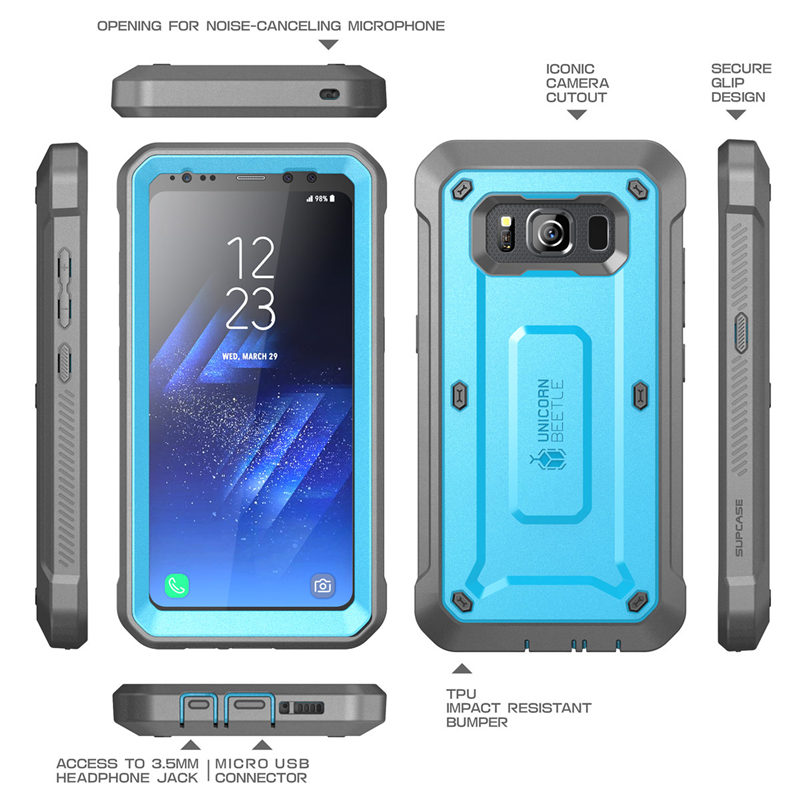 Image 5 - SUPCASE For Samsung Galaxy S8Active Case Unicorn Beetle UB Pro Full Body Rugged Holster Cover WITH Built in Screen ProtectorFitted Cases   -