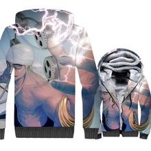 Funny 3D Print Mens Jackets 2019 New Arrival Zipper Warm Hip Hop Sweatshirt Streetwear Fleece Thick Tracksuit Top