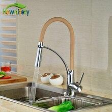 Colorful Kitchen Faucet Brass Chrome Polish Deck Mounted Swivel Spout Hot&Cold Faucet