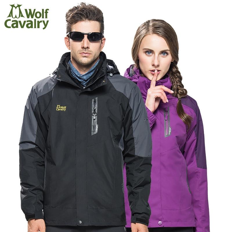Cavalrywolf 2017冬キャンプハイキングジャケット男性女性トレッキング登山雨コートスキーアウトドアスポーツジャケット、AM191  グループ上の スポーツ & エンターテイメント からの ハイキング ジャケット の中 1