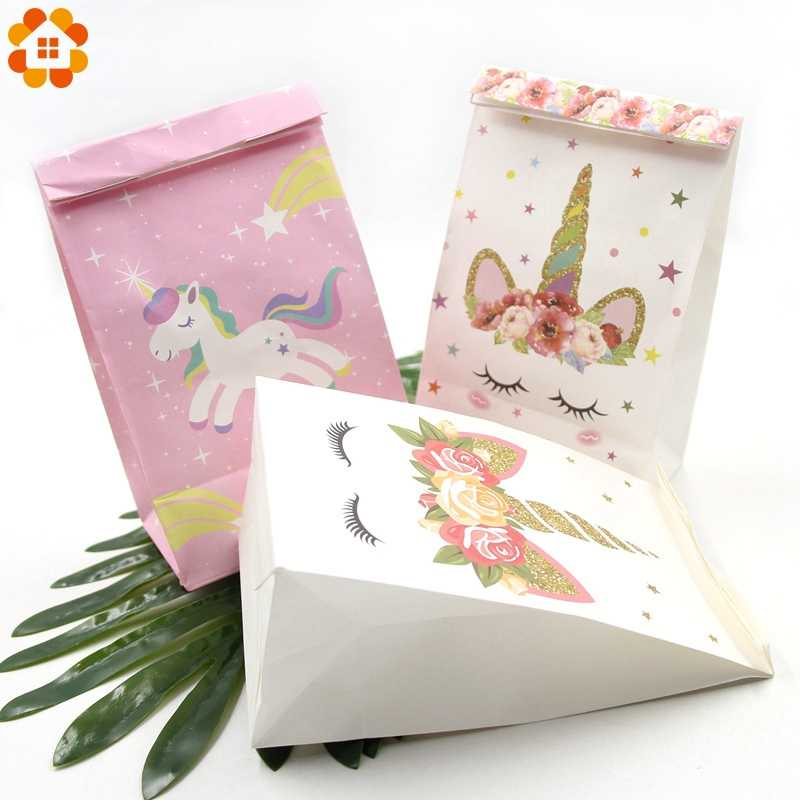 Detail Feedback Questions About 6pcs White Pink Unicorn Paper Bag