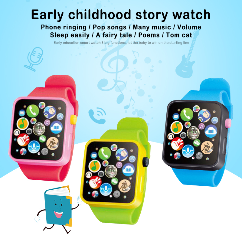 Electronic Walkie Toy Watch Kids Learning Multifunction Smart Watch Kids Toddler Wrist Touch Screen Toy Boys Girls Xmas Gift
