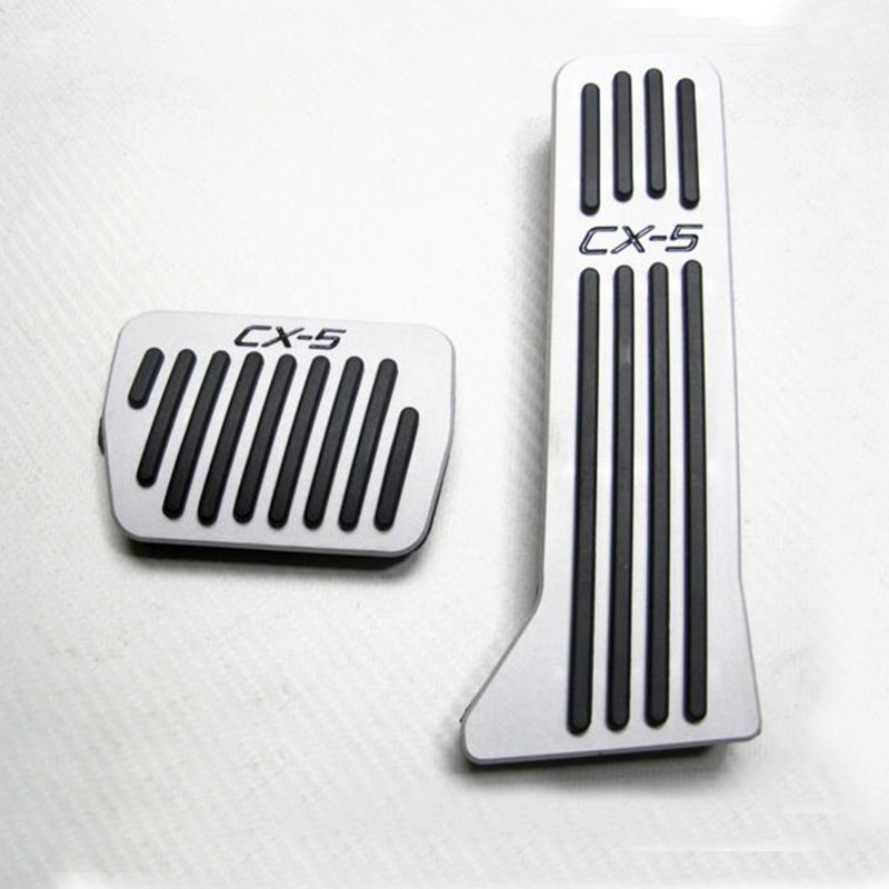 car styling Stainless Steel Car Gas Pedal Car Pedals Case for fit for Mazda Cx-5 Cx5 Accessories for mazda cx 5 cx5 2017 2018 2nd gen lhd auto at gear panel stainless steel decoration car covers car stickers car styling