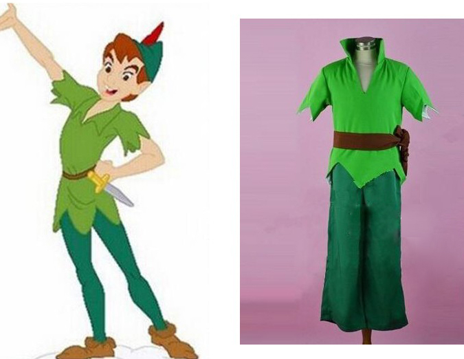 Adult Men Peter Pan Costume Green Fancy Carnival Party Cosplay Costume Can Be Custom Made Free Shipping