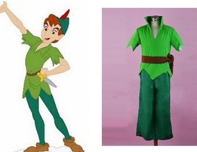 Erwachsene Männer Peter Pan Kostüm Grün Fancy Karneval Party Cosplay