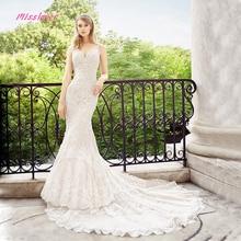 Vestido De Noiva Luxury lace Crystal and Pearls Mermaid Bride Wedding Dress 2019 new Bridal Gown Sexy V-neck Robe de mariee