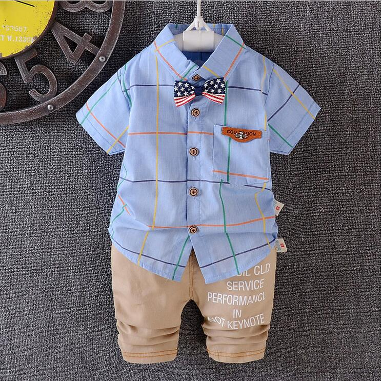 new-fashion-fontb0-b-font-to-fontb3-b-font-years-old-baby-boys-bowknot-plaid-shirt-with-short-sleeve