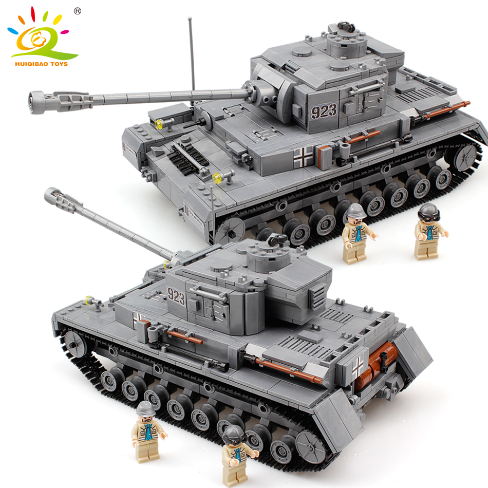 1193pcs Military army series tank F2 Building Blocks German soldier Bricks WW2 Compatible legoed educational toys for children