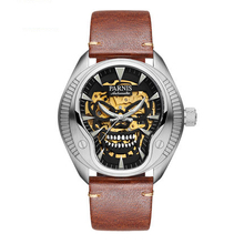 Parnis PIRATE Seriers Luminous Mens Leather Watchband Fashion Mechanical Watch Wristwatch