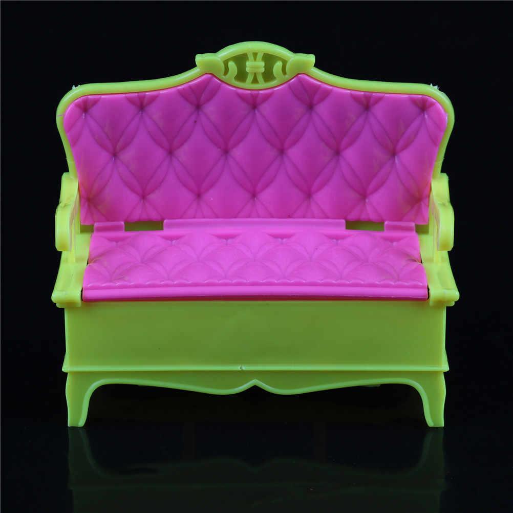 1/12 casa de muñecas muebles en miniatura sofá silla pareja sofá Banco casa de muñecas accesorios juguete para juego de imitación