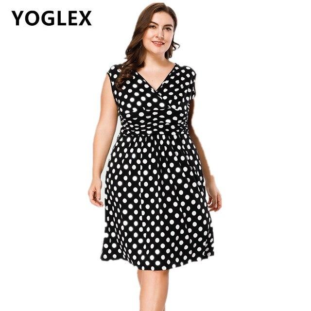 5463a4d14a Más tamaño mujeres verano vestido XL-5XL 6XL 7XL 2018 nuevas señoras sin  mangas v