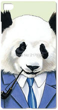 Painting Funny Panda Plastic Hard Cell Phone Cover For Huawei Honor 6 7 6X Ascend P6 P7 Mini P8 P9 Lite Mate 7 8 Mobile Case