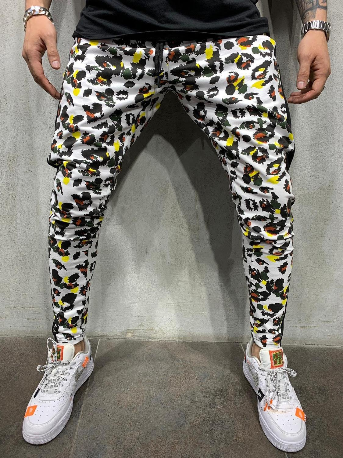 New Men's Camouflage Casual Hip hop Trousers 3d Printed Pattern Trousers Slim Feet pants Cotton color street pants good quality