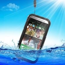 Капа Coque принципиально для HTC One m 9 Водонепроницаемый сумка Обложка для тяжелых условий эксплуатации IP-68 Водонепроницаемый чехол для HTC One M9 /M8/M7