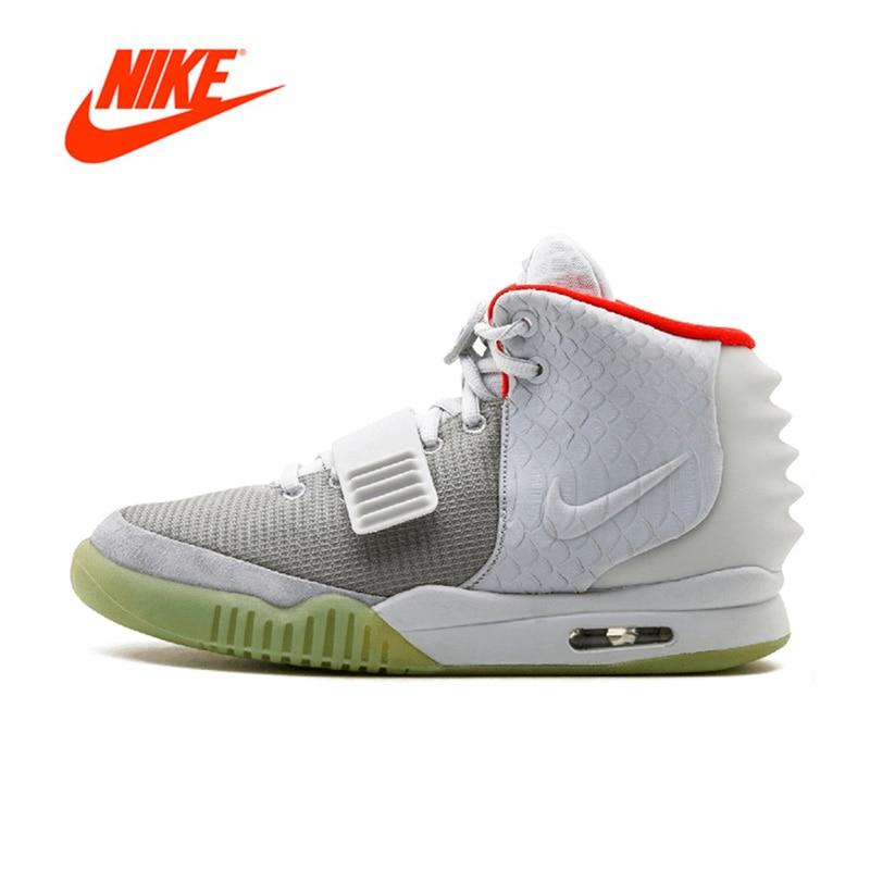 Официальный оригинальный Nike Air Yeezy 2 nrg Для Мужчин's Баскетбол обувь Спорт на открытом воздухе 508214-010