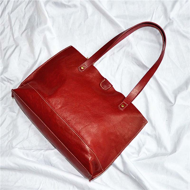 New women s bag planted suede women s bag retro oil wax head layer simple bag