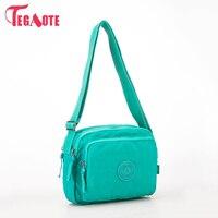 TEGAOTE Women Shoulder Bags Solid Zipper Bags Handbags Women Famous Brands Nylon Summer Beach Crossbody Bags