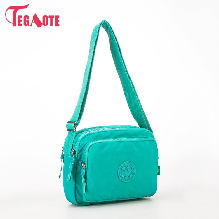 TEGAOTE Women Shoulder Bags Solid Zipper Bags Handbags Women Famous Brands Nylon Summer Beach Crossbody Bags Female Sac A Main