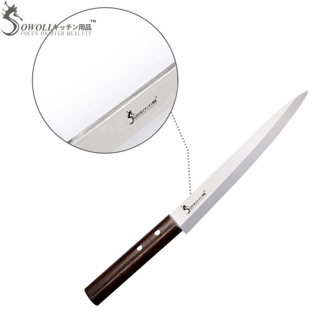 SOWOLL prekės ženklas 8 colių Sashimi peilis puikus japoniško - Virtuvė, valgomasis ir baras - Nuotrauka 5