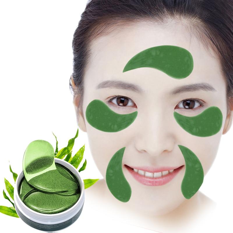 60 pcs/bottle EFERO Gel de Colágeno Máscara de Olho Anti Rugas Máscara de Dormir Eye Patches Sob Os Sacos Do Olho Escuro círculos de Olho Almofadas Cuidados Com A Pele