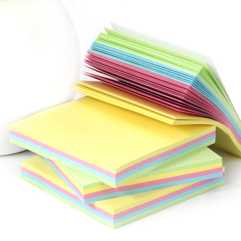 1000sheets 4Color Mixed Sticky Notes N Times Post It, Noted Paper Memo Pad Bookmark Marker Planner Office School Accessory kitmmm6445ssppap3030131 value kit post it super sticky large format notes mmm6445ssp and paper mate sharpwriter mechanical pencil pap3030131