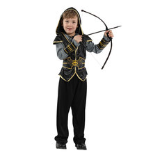 Indian Prince Costume for Boys Boy Child Hunter Cosplay Halloween Purim Party Carnival Costumes Dress Up