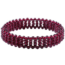 цена на Drop Shipping Natural Garnet Lovers Bracelet  For Men Women Girlfriend Gifts Crystal Bracelet Fine Jewelry