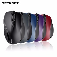 TeckNet Pro 2 4G Wireless Mouse Nano Receiver 6 Buttons 2400 DPI 3 Adjustment Levels For