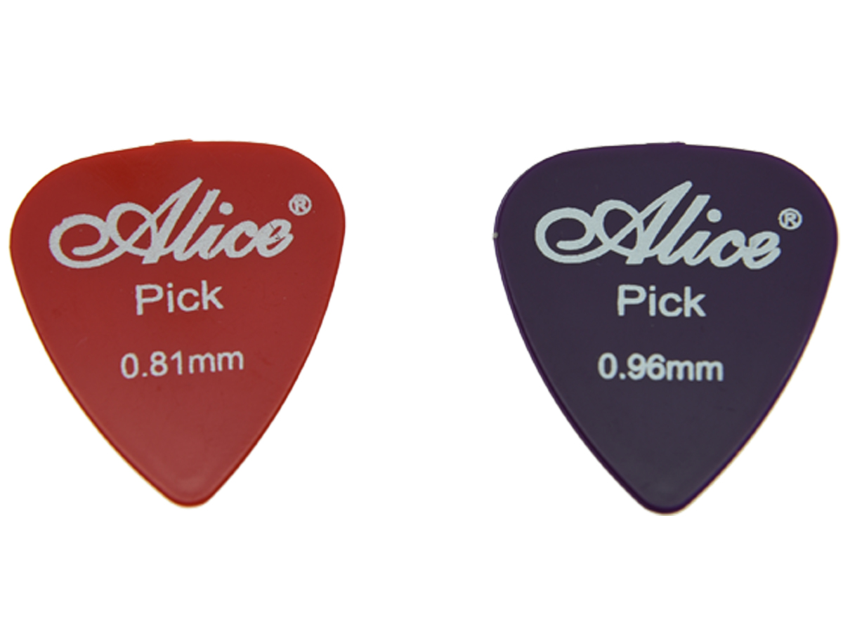 100pcs Alice Glossy ABS Guitar Picks with Assorted Colors 6 Thickness 0.58/0.71/0.81/0.96/1.2/1.5