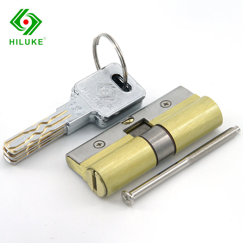 HILUKE brass Lock Core Solid Eight TrackSide Column Europe Stander 70mm(35mm-35mm) Lock Cylinder For High Security Door hiluke 70mm brass lock cylinder 5pics brass key with two line and button europe standard safe door lock core single open