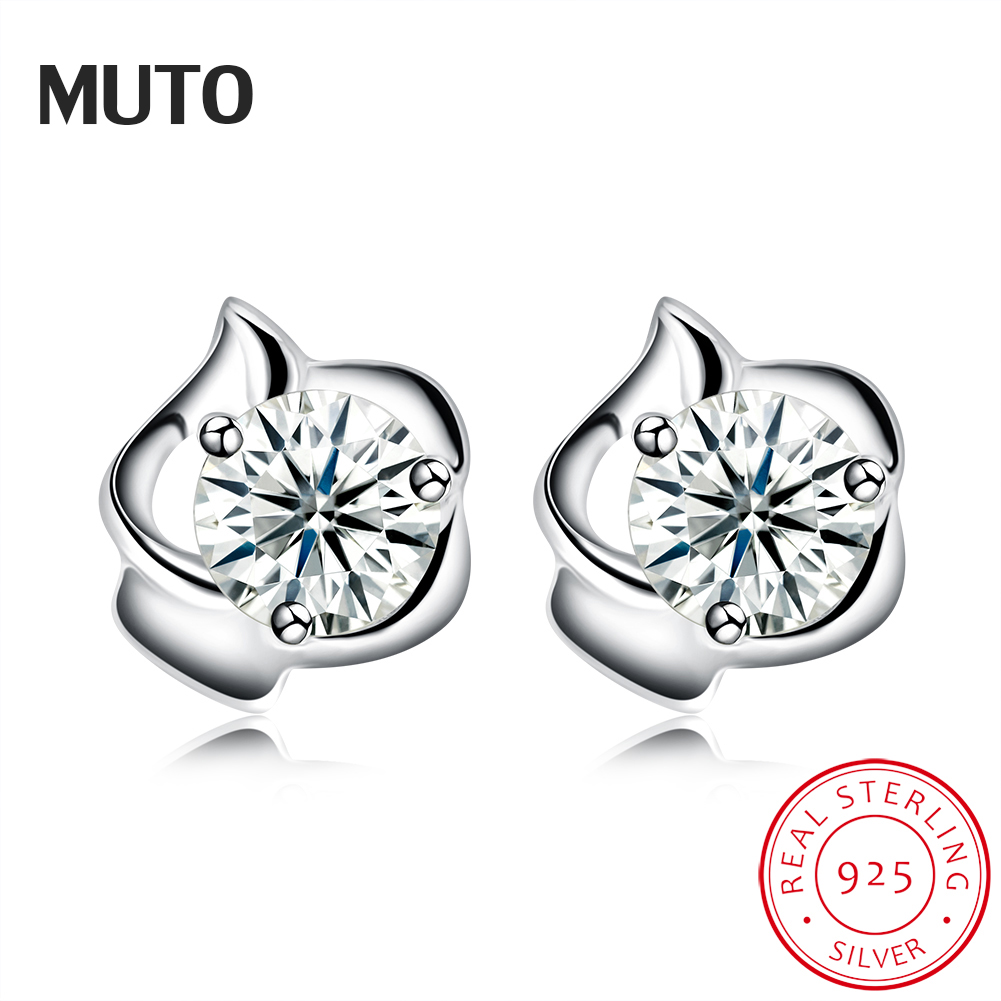 MUTO Flower 925 Sterling Silver Stud earrings No allergy Fine Jewelry for Women SVED4127 Certificate NO.: 10170519789